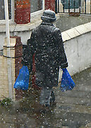 © Licensed to London News Pictures. 04/04/2013. London, UK Snow falls in West London today 4th April 2013. Photo credit : Stephen Simpson/LNP