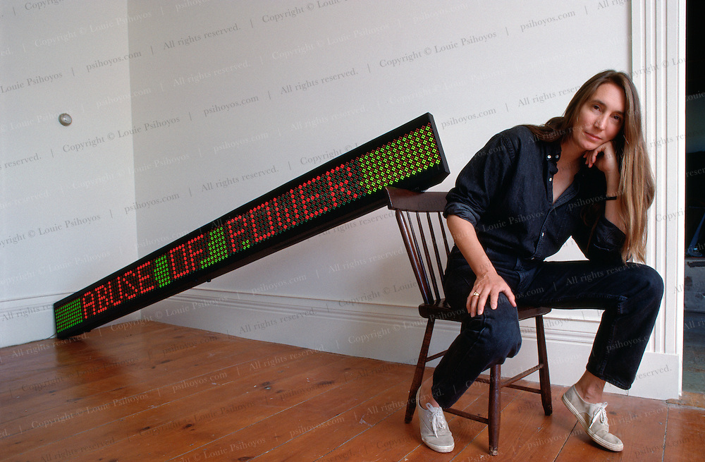 Jenny Holzer is probably best known for her work with Light-Emitting-Diodes (LED's) and witty and arresting text.
