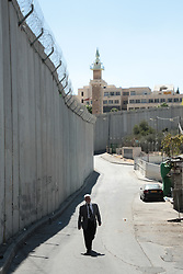 A view of the wall of separation in East Jerusalem. From a series of photos commissioned by  British NGO, Medical Aid for Palestinians (MAP).