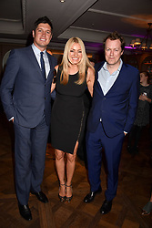 Vernon Kay, Tess Daly and Tom Parker Bowles at the 2017 Fortnum & Mason Food & Drink Awards held at Fortnum & Mason, Piccadilly London England. 11 May 2017.<br /> Photo by Dominic O'Neill/SilverHub 0203 174 1069 sales@silverhubmedia.com