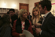 Clarissa Pilkington, Grace Pilkington and Elliot Macdonald, Henry Hudson opening. Hiscox Projects. 1 Gt. St. Helen St. London. 22 February 2007.  -DO NOT ARCHIVE-© Copyright Photograph by Dafydd Jones. 248 Clapham Rd. London SW9 0PZ. Tel 0207 820 0771. www.dafjones.com.