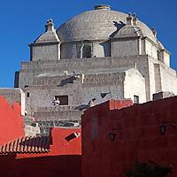 South America, Peru, Arequipa. Main Cloisters of Monasterio de Santa Catalina.