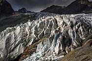 Die Gletscherzunge des Glacier Blanc; Nationalpark Ecrins, Département Hautes-Alpes, Frankreich<br /> <br /> The glacier snout of Glacier Blanc; Ecrins National Park, Hautes-Alpes, France