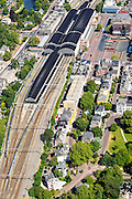 Nederland, Noord-Holland, Haarlem, 01-08-2016; Station Haarlem en omgeving, Stationsplein met busstation.<br /> Main railway station Haarlem.<br /> luchtfoto (toeslag op standard tarieven);<br /> aerial photo (additional fee required);<br /> copyright foto/photo Siebe Swart