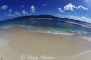 Tortola, as seen from Sandy Cay, British Virgin Islands<br /> ( Caribbean Sea )