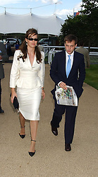 LADY ROSE INNES-KER daughter of the 10th Duke of Roxburghe and the HON.ED SACKVILLE at the 4th dfay of the 2005 Glorious Goodwood horseracing festival at Goodwood Racecourse, West Sussex on 29th July 2005.    <br />