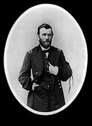 Ulysses S Grant (1822-1885) 18th President of the United States, 1869-1877. During the American Civil War 1861-1865  he was General-in-Chief of the Union armies. Here in the uniform of Lieutenant-General. Three-quarter portrait standing.