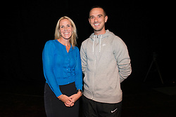 Lisa Knight and Mark Sampson pose for a photo - Mandatory byline: Dougie Allward/JMP - 07966386802 - 05/09/2015 - FOOTBALL - SGS Wise Campus -Bristol,England - Bristol Academy Womens v Birmingham City Ladies - FA Womens Super League