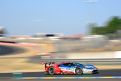 June 18, 2017 - Le Mans, Sarthe, France - FORD CHIP GANASSI TEAM UK MICHELIN FORD GT.BILLY JOHNSON (USA) in action during the race of the 24 hours of Le Mans on the Le Mans Circuit - France (Credit Image: © Pierre Stevenin via ZUMA Wire)