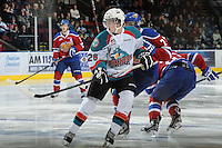 KELOWNA, CANADA, FEBRUARY 15: Cole Linaker #26 of the Kelowna Rockets skates on the ice against the Edmonton OIl Kings at the Kelowna Rockets on February 15, 2012 at Prospera Place in Kelowna, British Columbia, Canada (Photo by Marissa Baecker/Shoot the Breeze) *** Local Caption ***