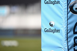 A general view of Gallagher branding at Allianz Park prior to kick off - Mandatory by-line: Arron Gent/JMP - 13/09/2020 - RUGBY - Allianz Park - London, England - Saracens v Exeter Chiefs - Gallagher Premiership Rugby