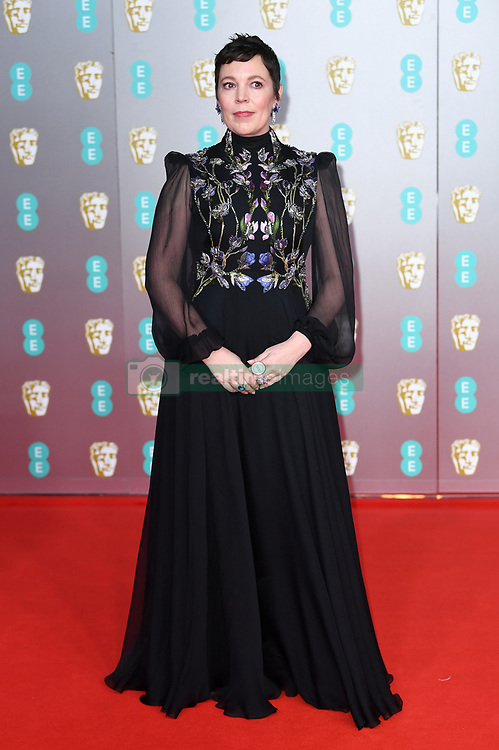 Olivia Colman attending the 73rd British Academy Film Awards held at the Royal Albert Hall, London. Photo credit should read: Doug Peters/EMPICS Entertainment