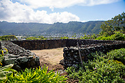 Kuka'o'o Heiau, Manoa Heritage Center, Honolulu, Oahu, Hawaii