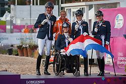 Team Netherlands, Hosmar Frank, Heutink Joice, Den Dulk Nicole , Krijnsen Lotte, Voets Sanne, <br /> FEI European Para Dressage Championships - Goteborg 2017 <br /> © Hippo Foto - Dirk Caremans<br /> 22/08/2017,
