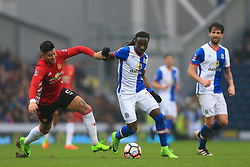 19th February 2017 - FA Cup - 5th Round - Blackburn Rovers v Manchester United - Marvin Emnes of Blackburn battles with Marcos Rojo of Man Utd - Photo: Simon Stacpoole / Offside.