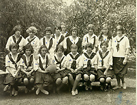 1924 Harlean Carpenter aka Jean Harlow (2nd from left) on volleyball team at Hollywood School for Girls