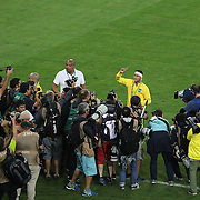 Football - Olympics: Day 15  Neymar #10 of Brazil is besieged by photographers after Brazil's win during the Brazil Vs Germany Men's Football Gold Medal Match at Maracana on August 20, 2016 in Rio de Janeiro, Brazil. (Photo by Tim Clayton/Corbis via Getty Images)