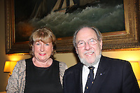 Sadie Phelan President Wicklow Sailing Club, James Horan Commodore Royal Irish Yacht Club  at the launch of 18th Volvo 2016 Round Ireland Yacht Race which was held in the Royal Irish Yacht Club.<br />Photo Ann Egan