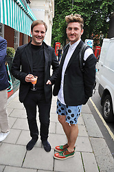 Left to right, NICHOLAS KIRKWOOD and HENRY HOLLAND at a lunch to celebrate the the Lulu & Co Autumn/Winter 2011 collection held at Harry's Bar, 26 South Audley Street, London W1 on 21st June 2011.