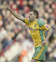 Photo: Aidan Ellis.<br /> Barnsley v Norwich City. Coca Cola Championship. 03/03/2007.<br /> Norwich's Darren Huckerby celebrates his goal