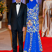 NLD/Amsterdam/20130429- Afscheidsdiner Konining Beatrix Rijksmuseum, prince Billah and his wife princess Sarah of Brunei
