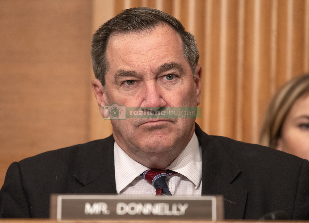 October 2, 2018 - Washington, District of Columbia, U.S. - United States Senator Joe Donnelly (Democrat of Indiana) questions the witnesses during the US Senate Committee on Banking, Housing and Urban Affairs hearing titled ''Implementation of the Economic Growth, Regulatory Relief, and Consumer Protection Act'' on Capitol Hill in Washington, DC on Tuesday, October 2, 2018  (Credit Image: © Ron Sachs/CNP via ZUMA Wire)