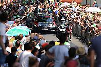 DENNIS Rohan (AUS) BMC, Illustration Public Spectators, Fans Supporters, during the Tour de France 2015, Stage 1, Time Trial, Utrecht - Utrecht (13,8 km), on July 4, 2015. Photo Tim de Waele /  DPPI