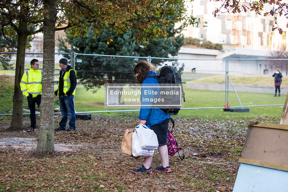 The Scottish Independence camp (Indy Camp) has been evicted from the grounds of the Scottish Parliament.