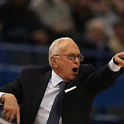 Larry Brown, the SMU coach in action on the sideline during the Temple Vs SMU Semi Final game at the American Athletic Conference Men's College Basketball Championships 2015 at the XL Center, Hartford, Connecticut, USA. 14th March 2015. Photo Tim Clayton