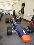 Canada, Montreal, race cars at the Circuit Gilles Villeneuve on Ile Notre Dame