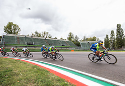 POLANC Jan of Slovenia and ROGLIC Primoz of Slovenia compete during Men Elite Road Race at UCI Road World Championship 2020, on September 27, 2020 in Imola, Italy. Photo by Vid Ponikvar / Sportida
