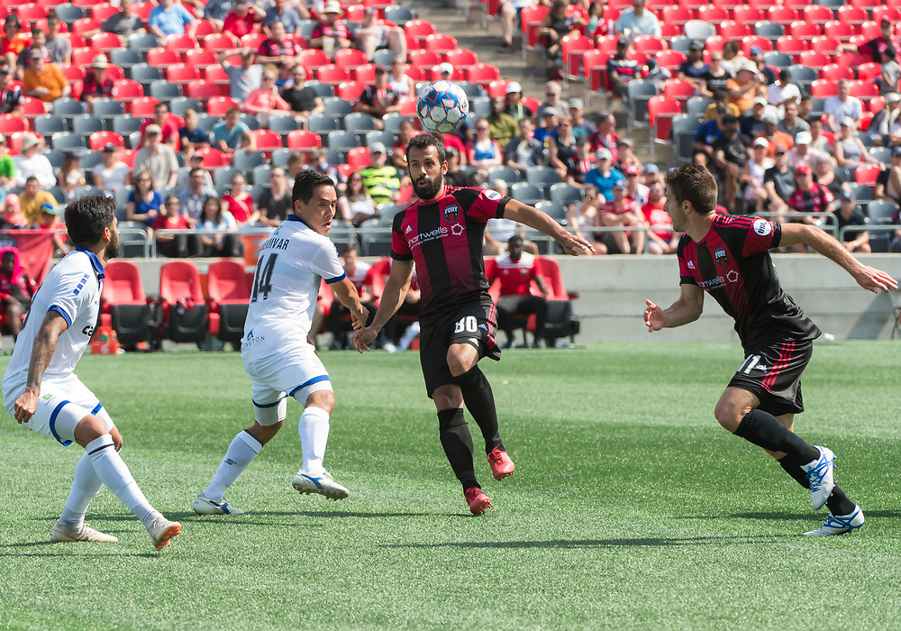 OTTAWA, ON - JULY 14: USL match between the Ottawa Fury FC and Penn FC at TD Place Stadium in Ottawa, ON. Canada on July 14, 2018.<br /> <br /> PHOTO: Steve Kingsman/Freestyle Photography for Ottawa Fury FC