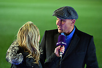 Football - 2018 / 2019 Emirates FA Cup - Fourth Round: AFC Wimbledon vs. West Ham United<br /> <br /> Ex Wimbledon Player and member of the Crazy Gang Vinnie Jones being interviewed before the game, at Cherry Red Records Stadium (Kingsmeadow).<br /> <br /> COLORSPORT/ASHLEY WESTERN