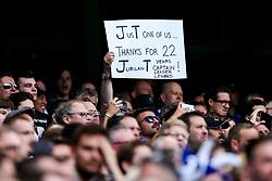 Fans hold up banners to thank retiring captain John Terry of Chelsea - Rogan Thomson/JMP - 21/05/2017 - FOOTBALL - Stamford Bridge - London, England - Chelsea v Sunderland - Premier League..