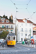 tram miradouro viewpoint alfama district lisbon portugal