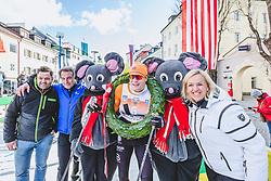 19.01.2020, Lienz, AUT, 50 Jahre Dolomitenlauf, Classicrace von Heinfels nach Lienz, im Bild v.l.: Franz Theurl (TVB Obmann und Organisator), 1. Platz Vinjar Skogsholm (NOR/42km) // during the 50 years Dolomitenlauf classicrace from Heinfels to Lienz, Austria on 2010/01/19, EXPA Pictures © 2020 PhotoCredit: EXPA/ Dominik Angerer