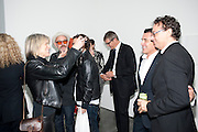 LINDA YABLONSKY; MICHAEL STIPE; JAY JOPLING; ANDRE BALAZ; MARIO BRAMBILLA, Opening of new White Cube Gallery in Bermondsey. London. 11 October 2011. <br /> <br />  , -DO NOT ARCHIVE-© Copyright Photograph by Dafydd Jones. 248 Clapham Rd. London SW9 0PZ. Tel 0207 820 0771. www.dafjones.com.
