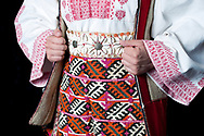Croatian folk costume from Vrlika in Dalmatinska Zagora. LADO (Croatian National Folk Dance Ensemble), Zagreb, Croatia © Rudolf Abraham