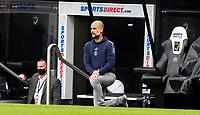 Manchester City manager Josep Guardiola takes the knee <br /> <br /> Photographer Alex Dodd/CameraSport<br /> <br /> FA Cup Quarter-Final - Newcastle United v Manchester City - Sunday 28th June 2020 - St James' Park - Newcastle<br />  <br /> World Copyright © 2020 CameraSport. All rights reserved. 43 Linden Ave. Countesthorpe. Leicester. England. LE8 5PG - Tel: +44 (0) 116 277 4147 - admin@camerasport.com - www.camerasport.com