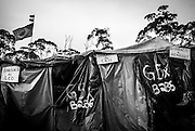 Tents in Copa do Povo (People's Cup) Camp in Itaquera, São Paulo, are organized by groups and have a respective number but people give the name of their family name to have a better felling of home. The Copa do Povo Camp, is just a few miles from the Arena Corinthians and has 5,000 homeless workers and their families occupied area of fifteen acres. They are homeless after rents skyrocketed because of the World Cup. (Eduardo Leal).