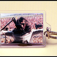 Peter Daltrey - Key Fob with image approx. 35mm x 50mm from 1970 Isle of Wight Music Festival exhibition on the front. The reverse has an exclusive CameronLife 40th Anniversary of the 1970 IW festival design