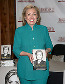 """Hillary Rodham Clinton Signs Copies Of Her Book """"Hard Choices"""""""