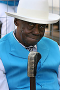 2010- Pinetop Perkins awaits his turn on stage at the King Biscut Blues Festival in Helena, Arkansas six months before he died.