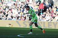 West Brom goalkeeper Ben Foster shows his delight as he celebrates his sides 2nd goal.   Barclays Premier league match, Swansea city v West Bromwich Albion at the Liberty Stadium in Swansea, South Wales on Saturday 15th March 2014. pic by Andrew Orchard,  Andrew Orchard sports photography.