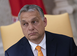 May 13, 2019 - Washington, District of Columbia, U.S. - Prime Minister Viktor Orban of Hungary as he meets with United States President Donald J. Trump in the Oval Office of the White House in Washington, DC on Monday, May 13, 2019.  The two leaders will meet for about an hour  (Credit Image: © Chris Kleponis/CNP via ZUMA Wire)