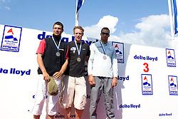 Medemblik - the Netherlands, May 31th 2009. Delta Lloyd Regatta in Medemblik (27/31 May 2009). Day 5, Medal races. Laser Podium,