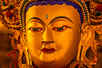 Buddha statue, Sera Monastery, near Lhasa, TIbet (Xizang), China.