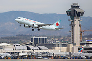 An Air Canada A320 takes off from Los Angeles International Airport (LAX) on Friday, February 28, 2020 in Los Angeles. (Brandon Sloter/Image of Sport)