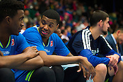 Ricky Ledo (7) of the Texas Legends chats with a teammate against the Los Angeles D-Fenders on Friday, January 9, 2015 at the Dr. Pepper Arena in Frisco, Texas. (Cooper Neill/Special Contributor)