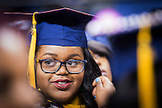 CSF-DC's Bryanna Johnson smiles just before walking at her NC A&T graduation on Saturday, May 14, 2016 (Tigermoth Creative/Chris English)